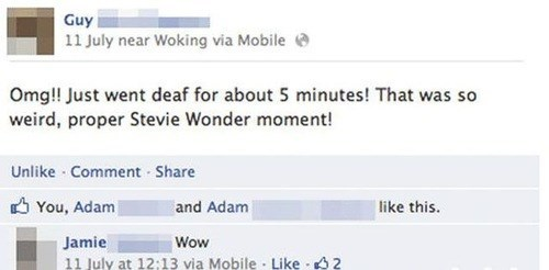 stevie wonder facepalm deaf