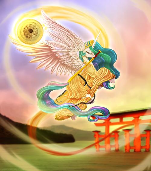 Fan Art sun princess celestia - 8275439616