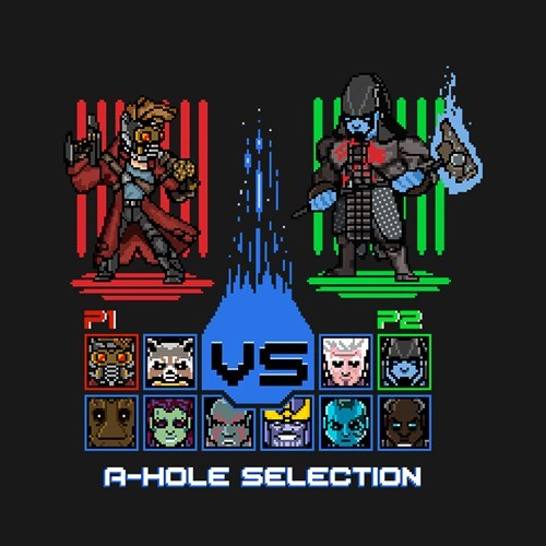 guardians of the galaxy tshirts video games