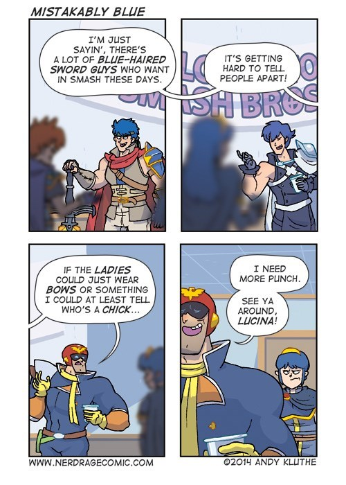 super smash bros,marth,web comics,captain falcon