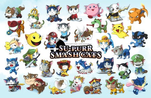 Fan Art super smash bros Cats - 8276959744