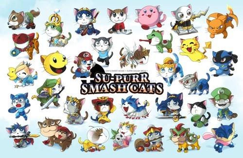 Fan Art super smash bros Cats - 8276959744