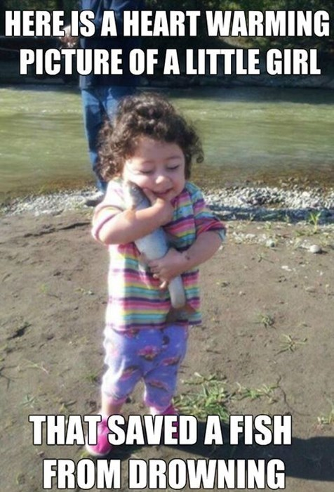kids fish drowning animals - 8277024000