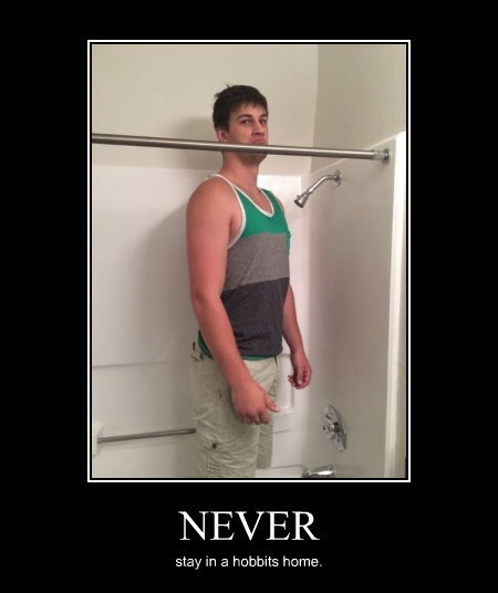 hobbits never shower funny - 8277518336