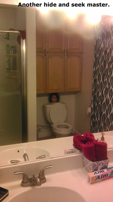 kids hide and seek parenting bathroom toilet - 8277556736