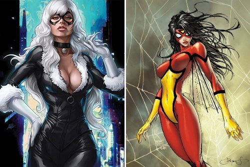 spider woman the amazing spider-man Sony ladies black cat