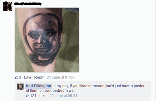 tattoo,Ugliest Tattoos,Karl Pilkington