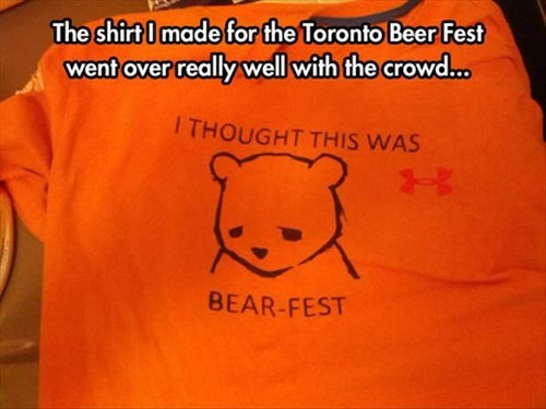 beer,poorly dressed,bear,g rated