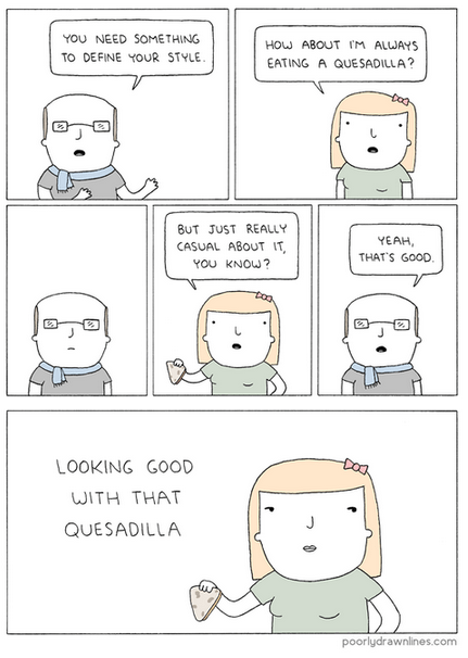 fashion,quesadilla,style,web comics
