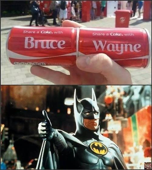 batman bruce wayne coca cola - 8277679872