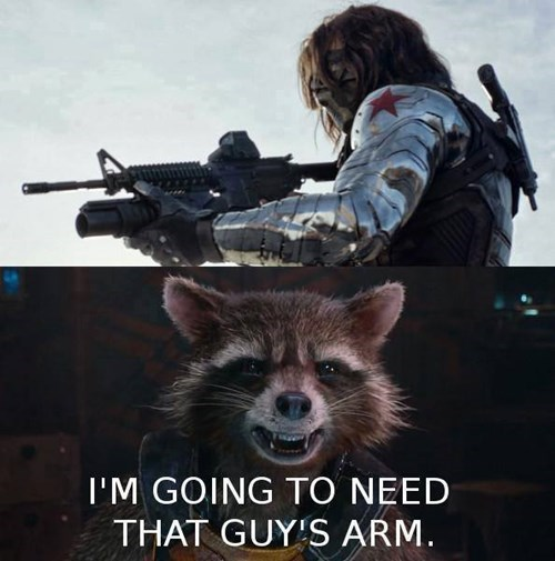 marvel,rocket raccoon,winter soldier