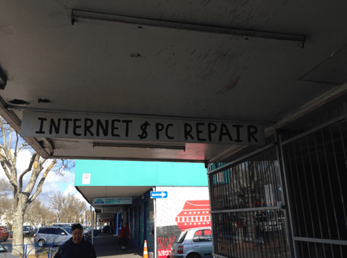 sign,repair,tech support