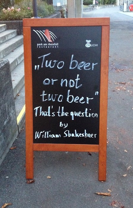 beer sign shakespeare funny - 8277799680