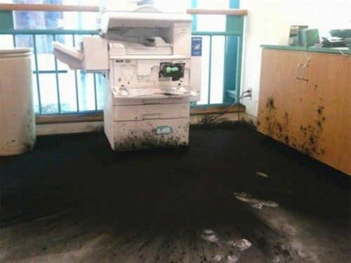 monday thru friday copier copy machine toner mess - 8277799936
