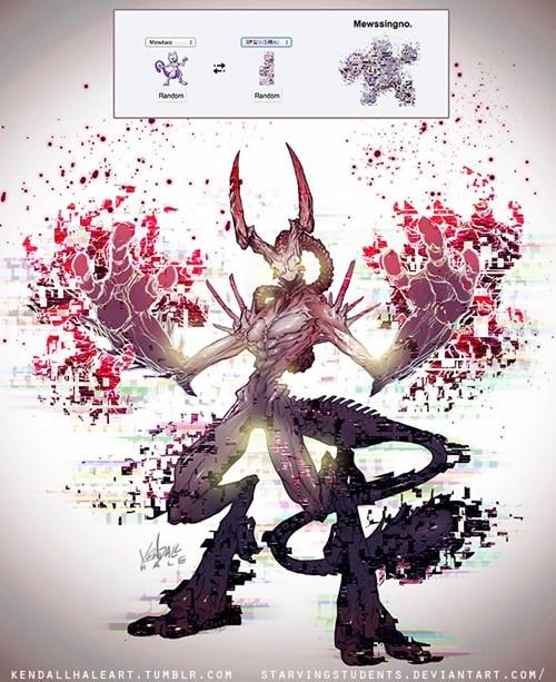 Pokémon Fan Art pokemon fusion mewssingno - 8277812992