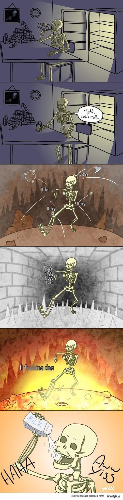 milk tough guy skeletons web comics - 8278358016