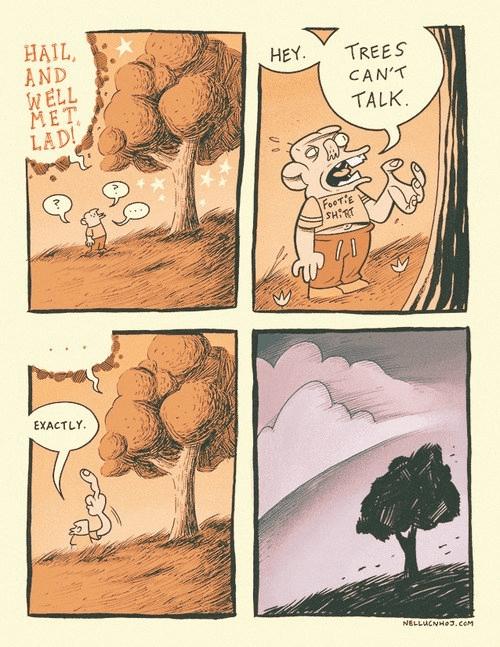 trees sad but true web comics - 8278483456