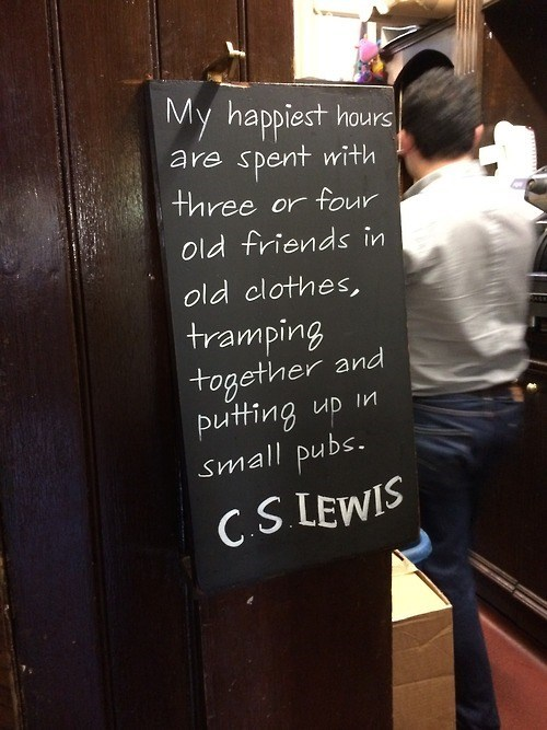 author,sign,literature,cs lewis,pub,quote,funny,after 12