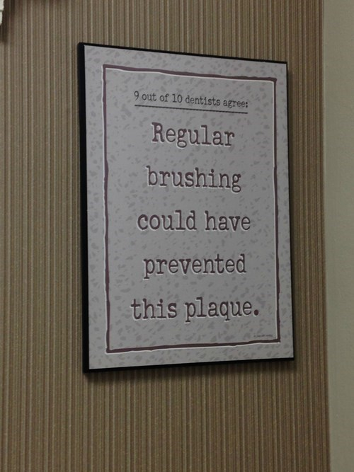 plaque sign dentist puns - 8278724864
