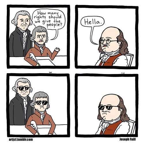 Benjamin Franklin bill of rights george washington funny - 8278741504