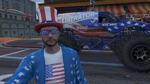 GTA V,video games,flag,funny