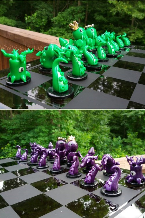 etsy for sale chess cthulhu - 8278784512
