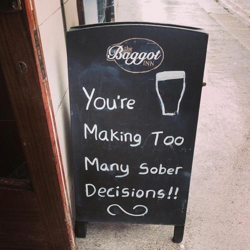 sober sign pub funny - 8278787072