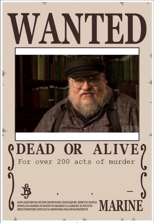 wanted grrm George RR Martin - 8278792448