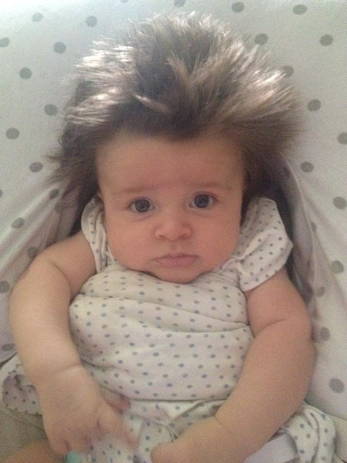 hair,baby,poorly dressed,expression,parenting