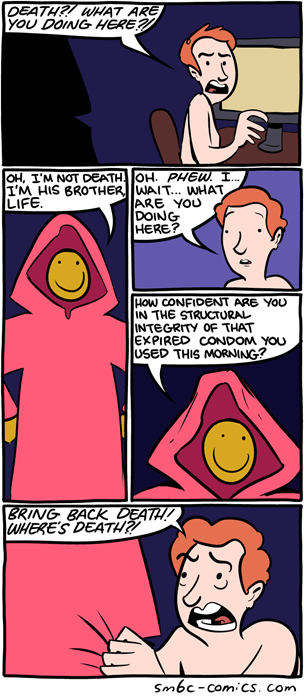 life Death smile web comics - 8278843392