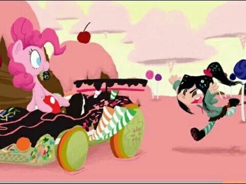 pinkie pie vanellope von schweetz wreck-it ralph - 8279087616