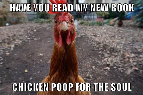 poop,puns,books,chickens