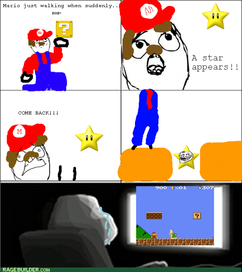 forever alone trollface video game star Super Mario bros - 8279660032