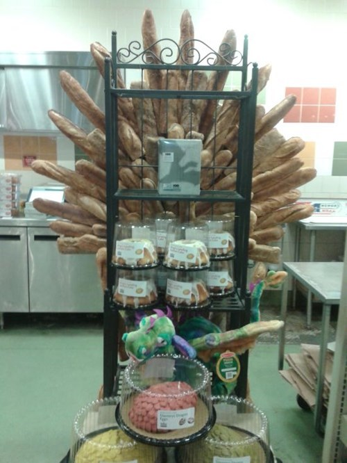 monday thru friday,bakery,Game of Thrones,bread,iron throne