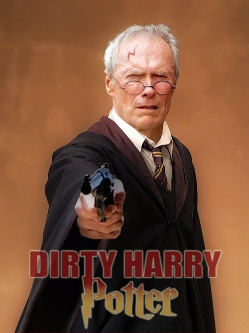 Harry Potter,Clint Eastwood,dirty harry