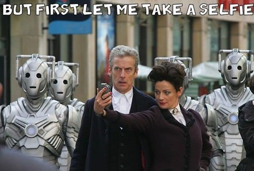 cybermen,12th Doctor,selfie