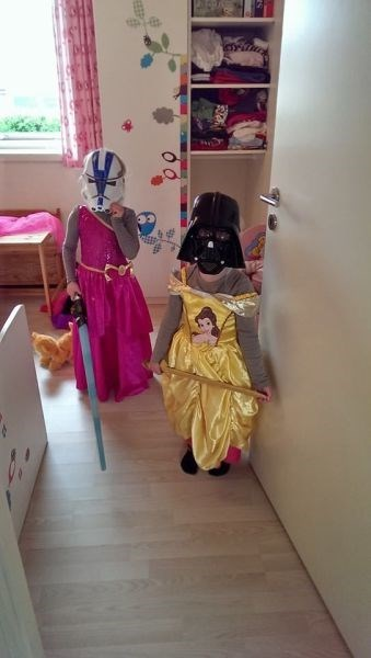 costume,princess,geek,crossover,star wars,kids,parenting,belle,darth vader