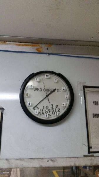 monday thru friday Office clock - 8279858944