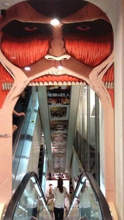anime escalator attack on titan - 8279863296