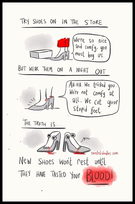 shoes fashion sick truth web comics - 8279868672