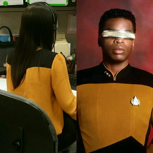 TNG poorly dressed Star Trek Star trek the next generation Geordi Laforge - 8279888640