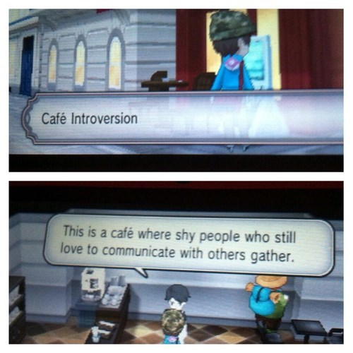 Pokémon,introverts,cafe