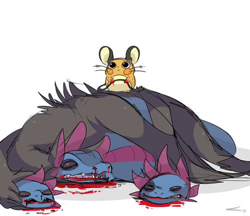 Fan Art hydreigon super effective play rough Dedenne - 8279931136