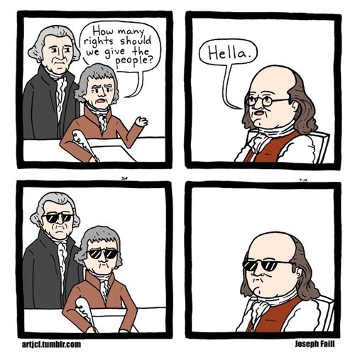 sunglasses,ben franklin,web comics