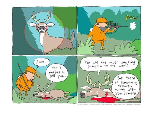 pumpkins sad but true deer hunting web comics