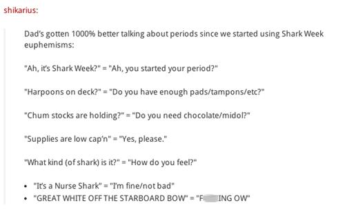 shark week parenting dad daughter - 8280825600
