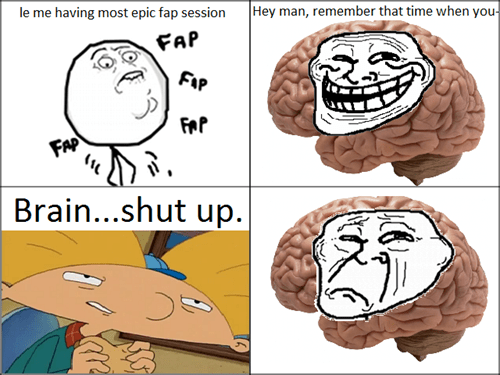 trollface scumbag brain