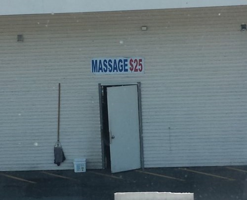 monday thru friday sketchy massage