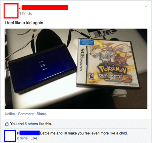 Pokémon,facebook,insults,burn