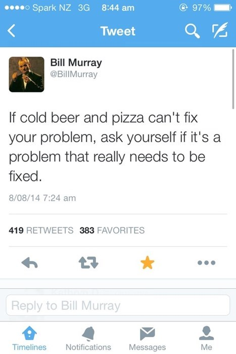 beer,twitter,wtf,bill murray,funny